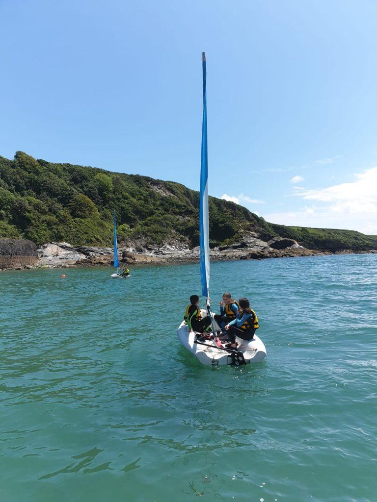 polkerris students school sailing
